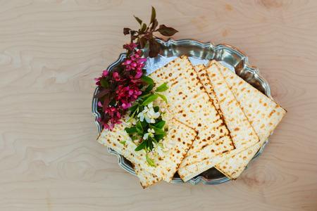 matzes: Matzo passover with wine and matzoh jewish passover bread Pesach Still-life with wine and matzoh