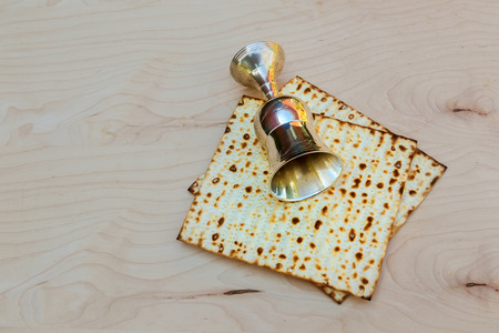 pesakh: Matzo passover with wine and matzoh jewish passover bread Pesach Still-life with wine and matzoh