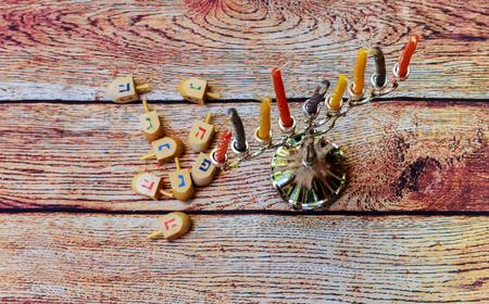 hanukka: Hanukah candles celebrating the Jewish holiday Hanukkah candles Jewish holiday