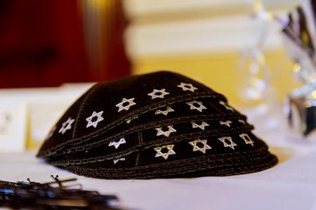 shabat: Yarmulke - gorro tradicional judía, Israel. sombreros judía