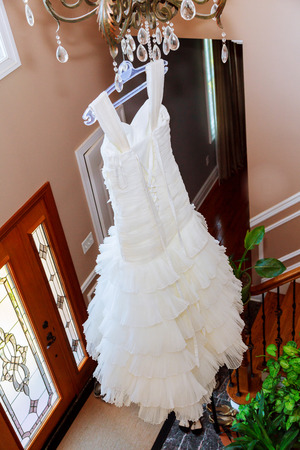 receptions: Bridal image, splendid and elegant very nice wedding White wedding dress
