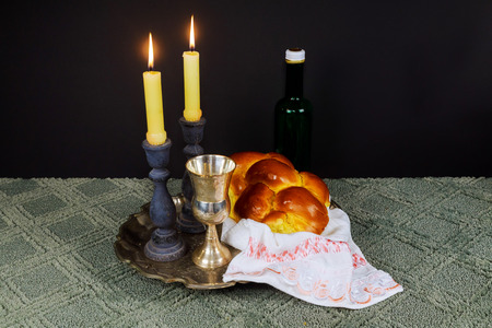 kiddush: Saturday Shabbat Shalom Shabbat Shalom Hebrew background with kiddush candles