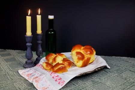 Saturday Shabbat Shalom Shabbat Shalom Hebrew background with kiddush candles
