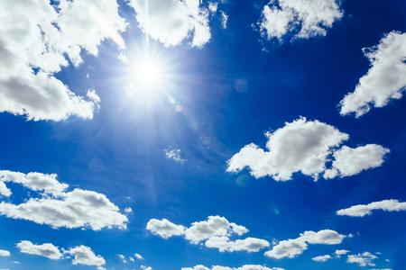 blue sky and sun clouds sky sun