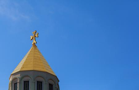 Armenian church cross sky armenian church blue, outdoors, sky, religion
