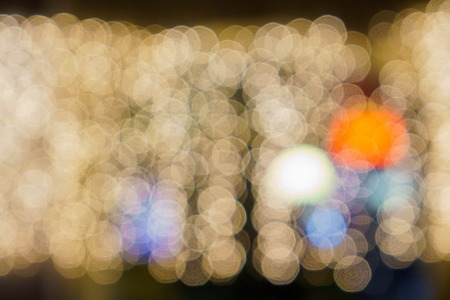 Lights on bokeh as background Bokeh NIGHT garlands Stock Photo