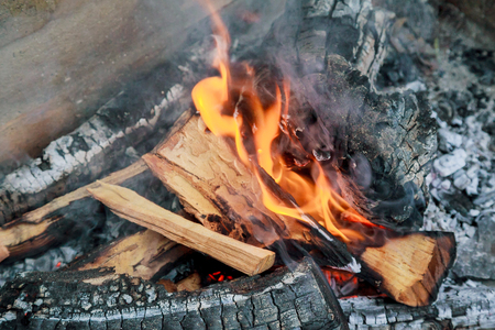 arsonist: coal and wood ash from burning in an oven fire wood charcoal