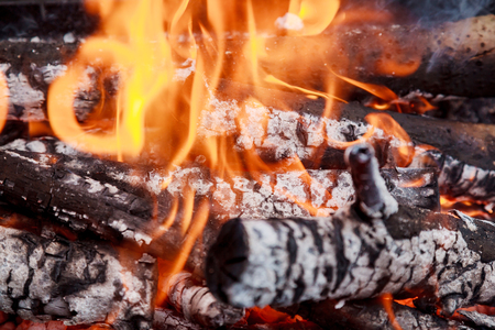 stock photography: Firewood in flame close-up stock photography close-up, fire, coal Stock Photo