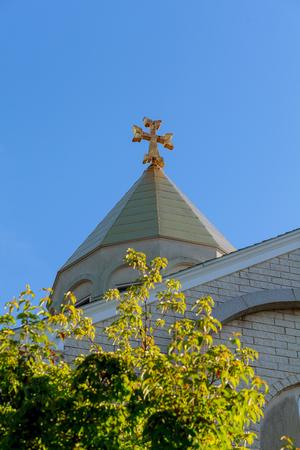 Armenian Church of the Cross ancient church, Stock Photo