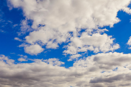 clouds in the blue sky cloudscape, cumulus, landscape, air