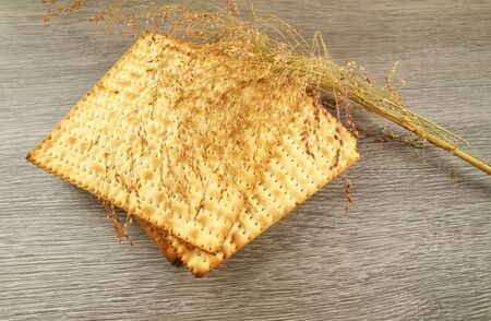 pesaj: Pesach jewish traditional textured Matza bread substitute isolated on white background