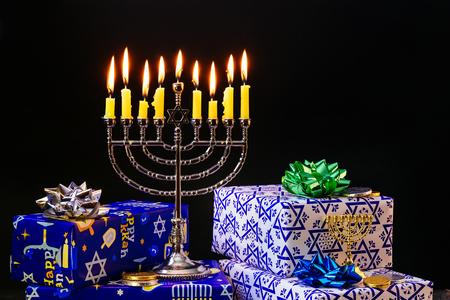 Lighting Hanukkah Candles Hanukkah celebration judaism menorah tradition