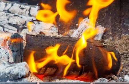 Wood Fire Close-Up wood smoke fire close-up