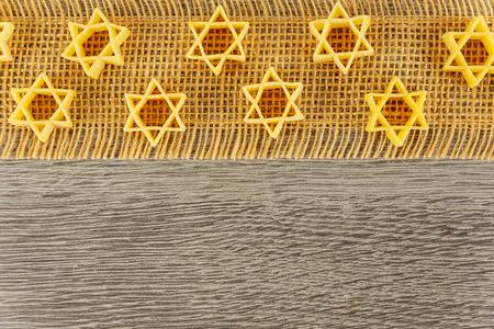Jewish eating products food Jewish Holiday symbol pasta for broth buckwheat a traditional Zdjęcie Seryjne