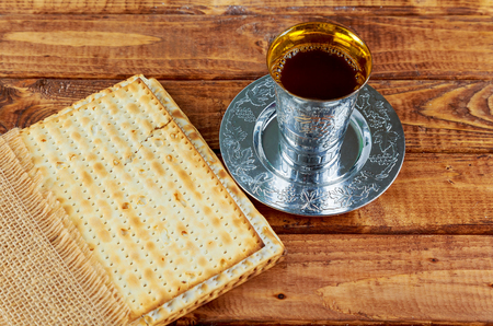 Pascha Joodse matzoh brood vakantie matzoth viering Stockfoto
