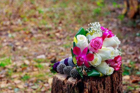 Wedding bouquet with roses wedding flowers roses
