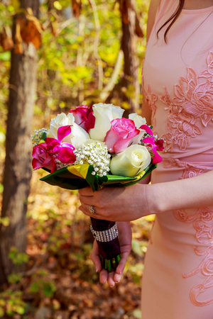 wedding bouquet Beautiful, Fresh, and colorful bridal bouquet Stock Photo