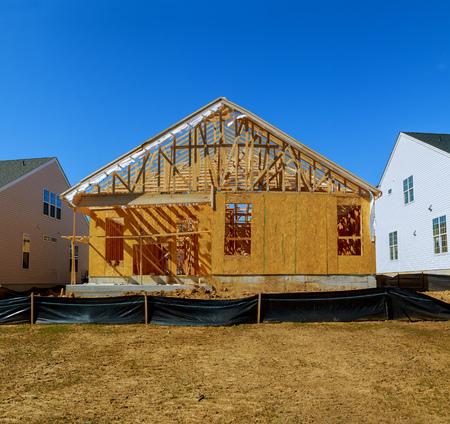 realestate: Desert construction of new homes Stock Photo
