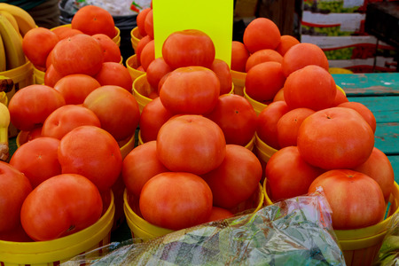 forsale: locally grown red tomatoes at local farmers market