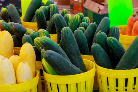 Cucumbers at a market Market with vegetable