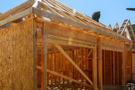 Nowa konstrukcja domu Oprawiona Nowa budowa domu Budowa nowego domu od podstaw