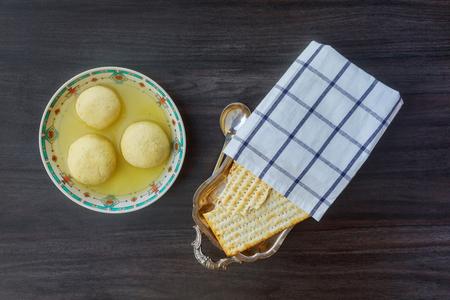 matzoh balls: matzoh ball Jewish Holiday symbol,Jewish soup, Jewish eating, Stock Photo