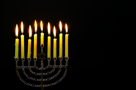 judaical: The lit of hanukkah candles Hanukkah candles Hanukkah candles