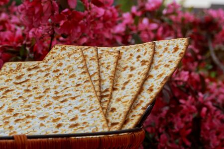 Matza bread for passover celebration Jewish holiday, Holiday symbol, Jewish Holiday symbol