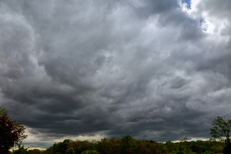 Sky with thunderclouds, rain clouds Stock Photo