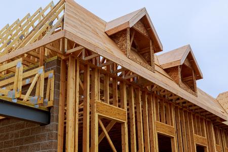 Nieuwe bouw van een huis Ingelijst nieuwbouw