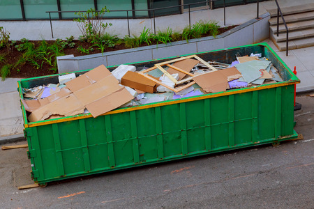 Recycling container trash on ecology and environment