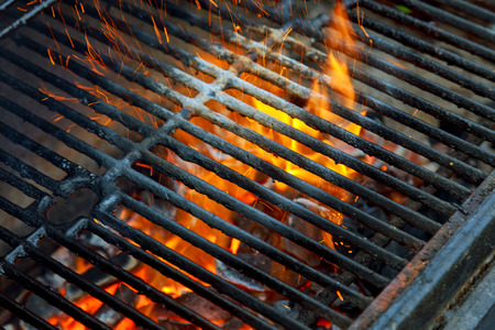 Barbecue Grill, Hot coal and Burning Flames. You can see more BBQ, Grilled food, flames and fire on my page.