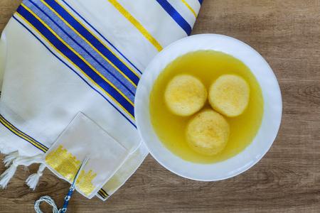 Hot Homemade Matzo Ball Soup in a Bowl Jewish Holiday symbol,Jewish soup, Jewish eating,