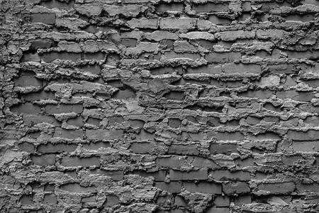 White and black Red brick wall texture background old Brick wall with concrete Stock Photo
