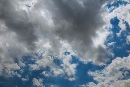 White clouds in blue sky. Clouds sky