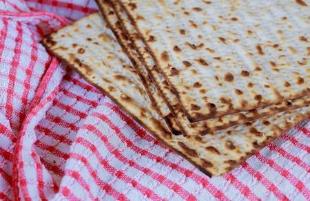 matzo flatbread for Jewish high holiday celebrations Jewish bread matza Stock Photo