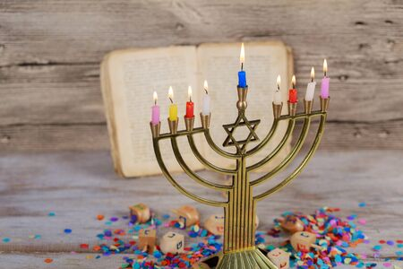 Jewish holiday, Holiday symbol Hanukkah, the Jewish Festival of Lights