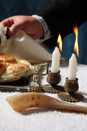 Saturday Sabbath Havdala ceremony at the end of Jewish Saturday Stock Photo