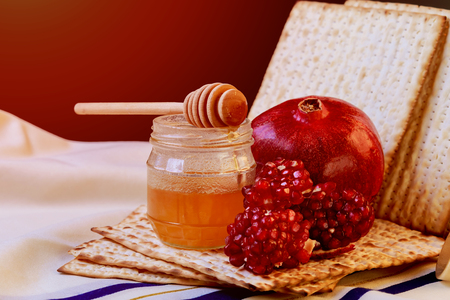 Pesah celebration concept (jewish Passover holiday) passover background. matzoh Stock Photo