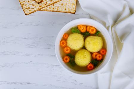 Passover Jewish holiday Food - Matzah balls soup Matzo Matzah balls soup