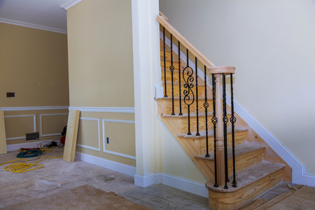 Beautiful Living room Architecture new home construction interior drywall and finish details