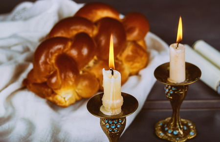 Traditional Jewish Homemade freshly baked challah for the Holy Sabbath ritual Stock Photo