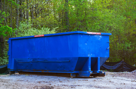 Garbage can storage in blue color