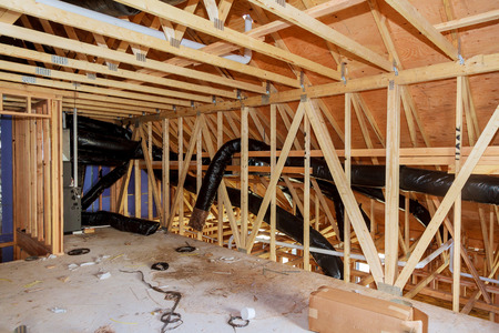 heating and cooling renovation attic and thermal insulation attic Banque d'images