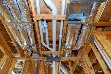 Air conditioner ventilation installation system in a frame house building