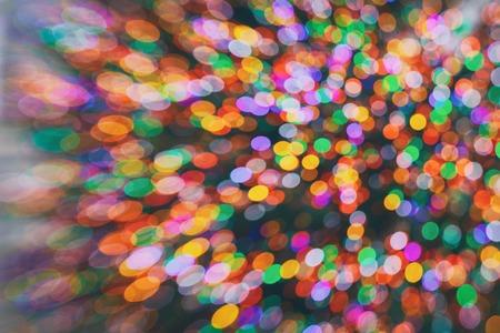 Bokeh lights on black background, abstract blur light bokeh.