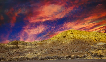 Sunset to the rockies natural area in the mountains, New Mexico landscape Banco de Imagens