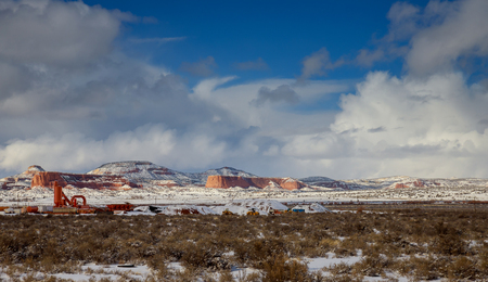Panoramic View at the sky mountain in New Mexico with freshly fallen snow, USA Banco de Imagens - 117808554