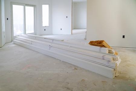 Process for under construction, remodeling, renovation, extension restoration and reconstruction door and molding Reklamní fotografie