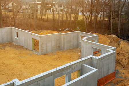 Waterproofing foundation insulation with polystyrene foam boards for house energy saving waterproofing house foundation